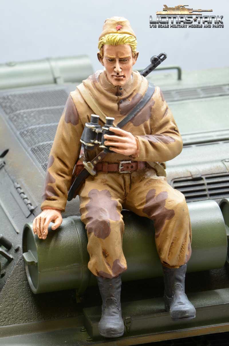 Russia Spy with PPS43 WW2 Figure F2005 licmas-tank scale 1:16
