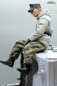 Preview: 1/16 figure German tank crew Wehrmacht winter soldier sitting with splinter camo pants WW2