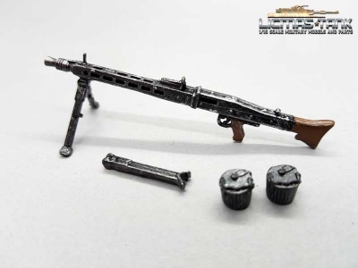 1/16 M G42 german machine gun set Wehrmacht WW2 painted metal