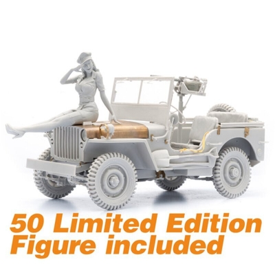 WW II Willys Jeep Model Kit - Scale 1/16 - Limited Edition