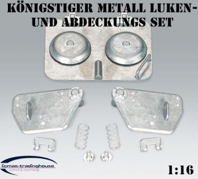 King Tiger, Jagdtiger TORRO - Metal Accessories - Covers / Hatches