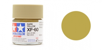 Tamiya Paint XF-60 Dark Yellow (flat) 23 ml