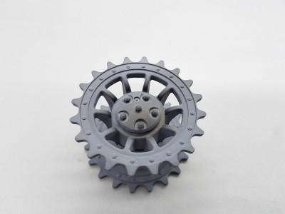Tiger 1 plastic driving wheel with cap painted gray 1:16 Heng Long