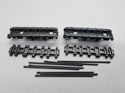 Metal spare track links with pins for Taigen metal chain King Tiger 1:16