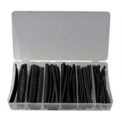 Shrink tube assortment 100-parts Black