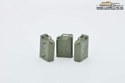 Set of 3 US fuel cans plastic original Heng Long 1:16