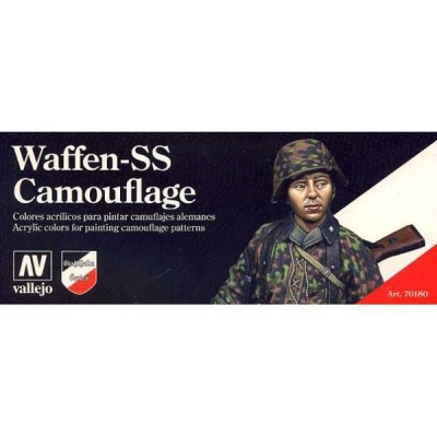 70180 Vallejo Model Color Waffen-SS Camouflage Set Uniform SS Farben