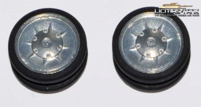 1 pair of metal wheels for tank 4 Taigen / Torro 1:16