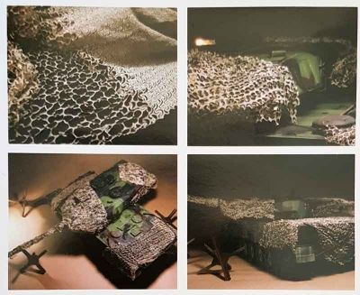 Camouflage net in 1:16 scale olive-green