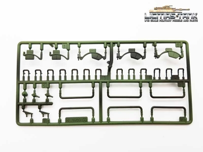 Heng Long Russia T34/85 Plasticset A Parts 1-7 painted