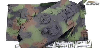 Taigen Upper Hull painted with Metaltower 3889 Leopard 2A6 BB 360°