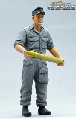 Figure Soldier WW2 Ammo Shell in Hands german self-propelled gun crew 1:16