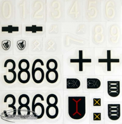 Decal sticker set for Panzer STUG 3