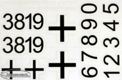 Original Aufkleber Set Decal für Panzer German Panther 3819