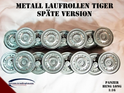 Metall Laufrollen Panzer Tiger späte Version 1:16