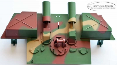 Panther Ausf. G. Spare Part - rear panel heng long 1:16