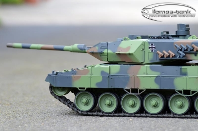 RC Panzer Heng Long TORRO 2.4 GHZ 4. Generation Leopard 2 A6 Schussfunktion R&S