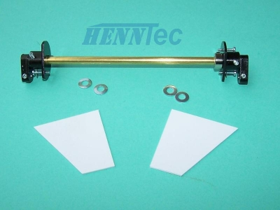 HennTec High Quality track tensioning system for the Königstiger plastic chassis 1:16