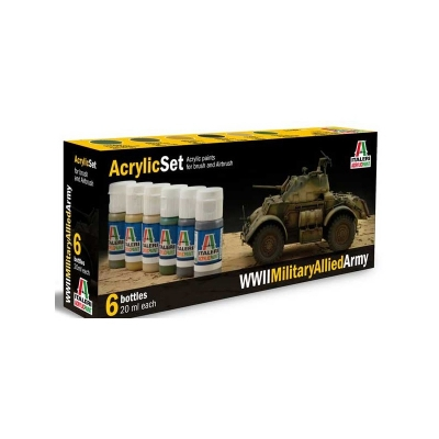 ITALERI Acrylic Color Set WWII Military Allied Army