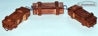 Wooden Ammo Crate Set Scale 1/16 licmas-tank