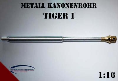 Metal cannon barrel for Tiger 1 Heng Long