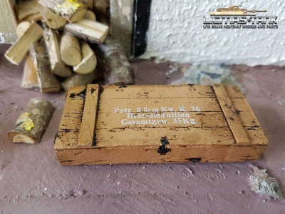 Ammo box 8.8cm Kw. K.36 light brown scale of 1:16