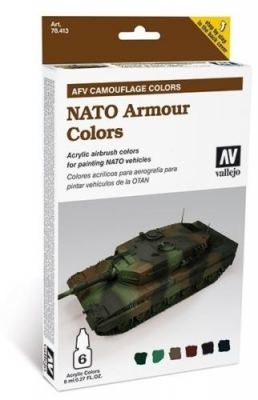 Model Air: Model Air Set AFV NATO Armor Colors Set (6)