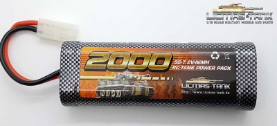 RC Tank NiMH Battery 7,2V / 2000 mAh with Tamiya Plug