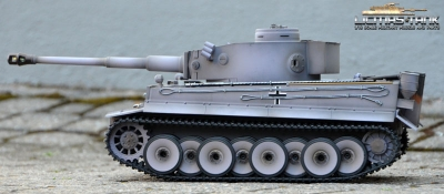 2.4 GHz Taigen Tiger 1 RC Tank Grey 6mm Shooting and Recoilsystem 1:16 Licmas-Tank