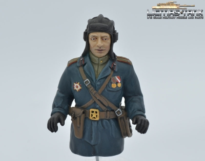 Russian tank commander Resin handpainted 1:16 licmas tank