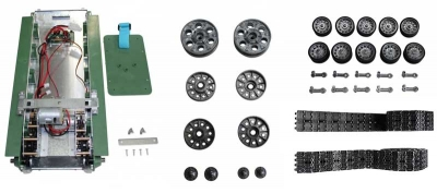 Metal chassis + steel gears + casters + stur and idlerwheels + metal tracks T34 / 85 Taigen 1:16