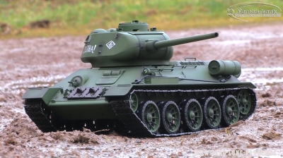 VIDEO RC Battle Tank T34/85 ferngesteuerter Panzer Heng Long 1:16