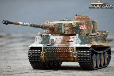 RC Panzer 2.4 GHz Tiger 1-RUSSIA SPRING 1943 Taigen V3 Metall-Edition 360°- 6mm Schussfunktion