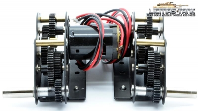3 in 1 Pro steel gearset flat motors short Axis with full sets flange bearing ( 16pcs )