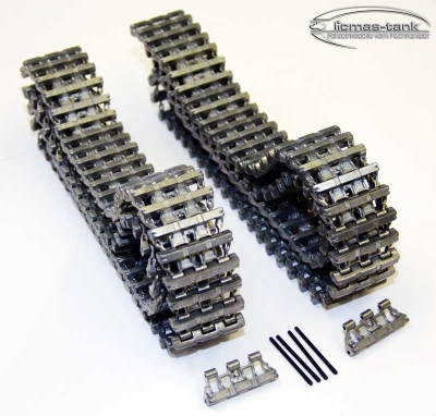 Top quality tanks 3 silver metal tracks 1:16 Taigen for Heng Long Panzer