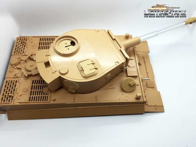 Tiger 1 upper hull with plastic tower and shot funtion 1/16 TAIGEN