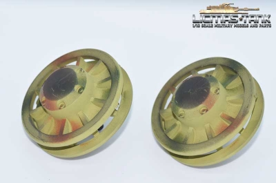 Tiger 1 plastic idler wheels painted Heng Long 1:16