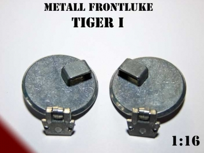 Metal front hatches for Panzer Tiger I Heng Long without angle mirror