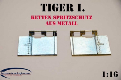 Mudguard for Tiger 1 tracks - metal mudguard 1/16