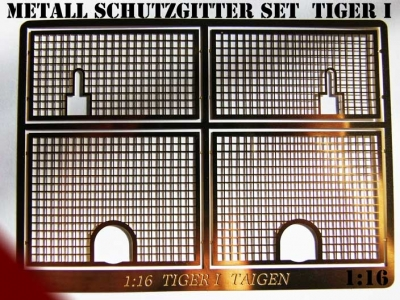 Metal protective guard set for Tiger 1 Heng Long