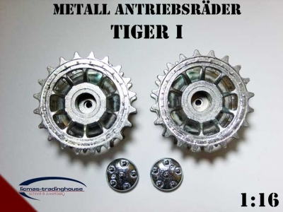 Metal drive wheels Heng Long Tiger