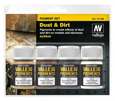 "Vallejo Pigment Set ""Dust & Dirt"" / 4x35ml"