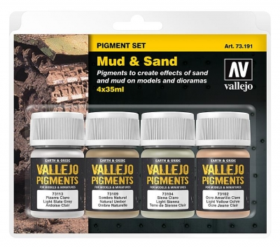 "Vallejo Pigment Set ""Mud & Sand"" / 4x35ml"