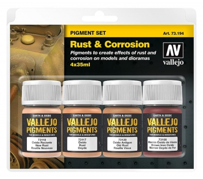 "Vallejo Pigment Set ""Rust & Corrosion"" / 4x35ml"