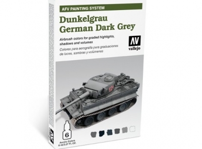 DUNKELGRAU GERMAN DARK GREY VALLEJO FARBEN SET 78400