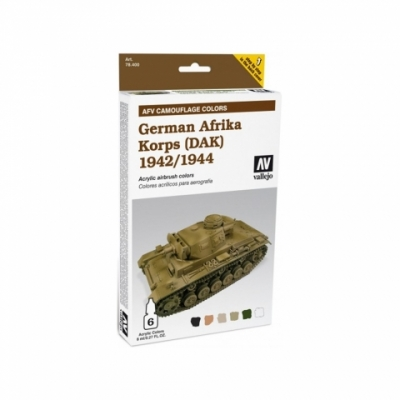 Model Air: Model Air Set AFV German Afrika Korps 1942 /1944 Set (6)