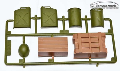 Plastic Spare Part Set D Heng Long Sherman 1:16