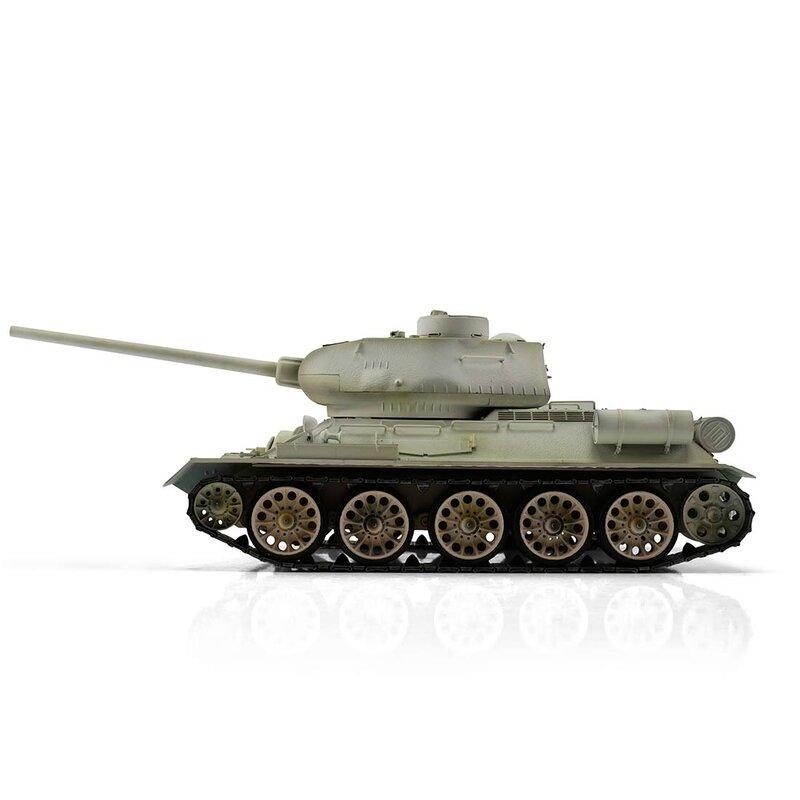 TORRO 3909-B1 schneetarn T34//85 RC Panzer 2.4 GHz 1//16 Profi-Metall IR