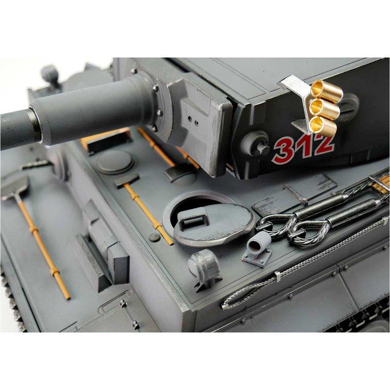 RC Panzer Tiger 1 graue Version IR Battlesystem Soundmodul 2,4GHz 1:16 Torro