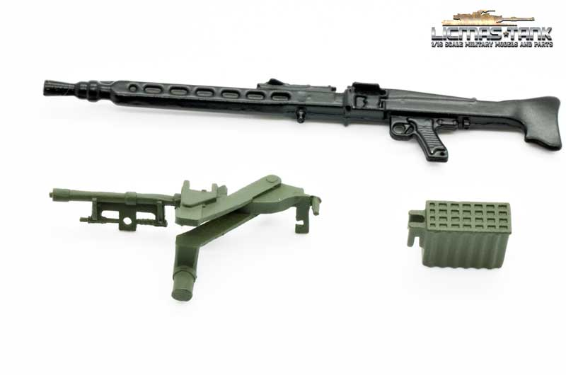 Bundeswehr MG3 with carriage and ammo box painted scale 1:16